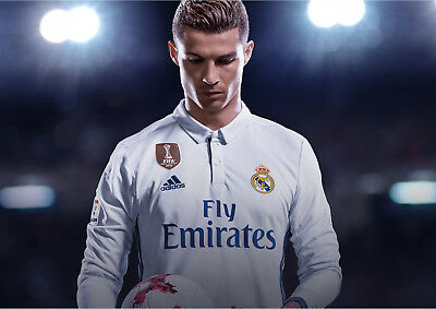 New Official Fifa 18 Cristiano Ronaldo Real Madrid Cover Pic Poster Print A4 A3
