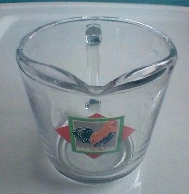 Rooster Anchor Hocking 1988 Glass 2 Cup Measuring Cup