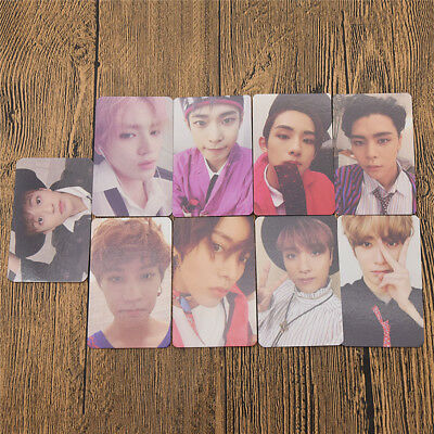 9 Pcs KPOP NCT127 3rd Album Cherry Bomb Photocards Poster Post Cards Official