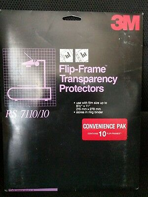 3M RS 7110-10 Flip Frame Transparency Protectors 10 Per package