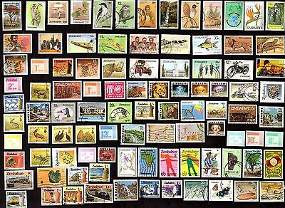125 ZIMBABWE All Different Stamps (C$80)