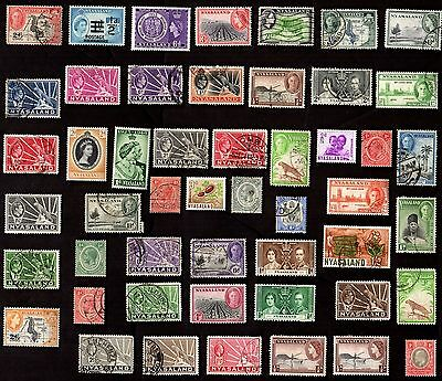 50 NYASSALAND PROTECTORATE All Different Stamps (C$80)