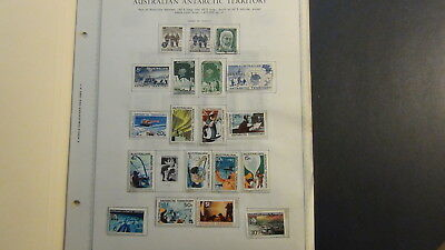 Australia Antarctic Terr.  stamp collection on Minkus pages to '89