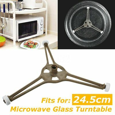Triple Arm Microwave Glass Turntable Plate Holder Ring Roller Support Stand