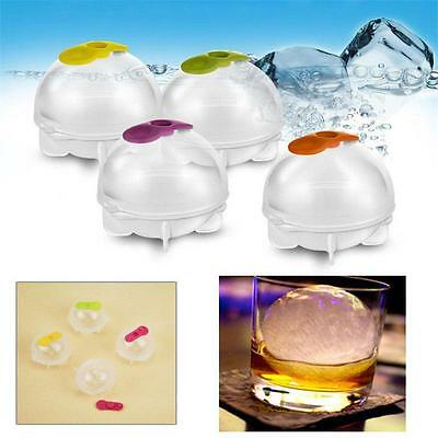 4 X Silicone Ice Ball Maker Mold Party Bar Tray Cube Round Sphere Mould Kitchen