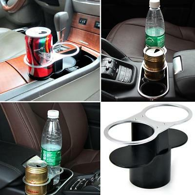 Car Front Seat Cup Bottle Drinking Double Holder Stand Mount No Spill Wile Drive