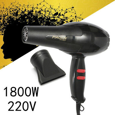1800W Quick Dry Hair Blow Dryer Fast Styling Lightweight Travel Compact Nozzle