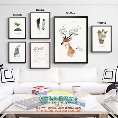 Home Decor Canvas Modern Nordic Painting Deer Wall Prints Artwork with Frame