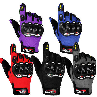 Professional Knuckle Protection Motorcycle Motorbike Motocross Full Finger Glove