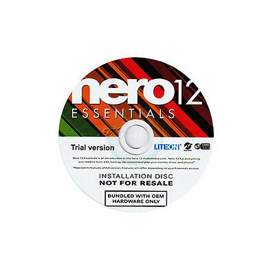 NERO 12 Essentials OEM Trail Version / DVD CD Bluray Brennprogramm /Vista/7/8/10