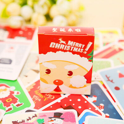 28pcs MINI Christmas Poster Card Greeting Card Wish Memo Cards Gift Tags 8cm/3in