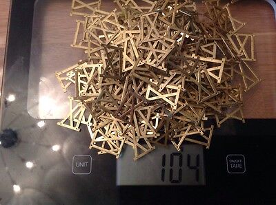 Vintage Solid Brass Clock Face Number Elevens 11 Approx 200 New Old Stock