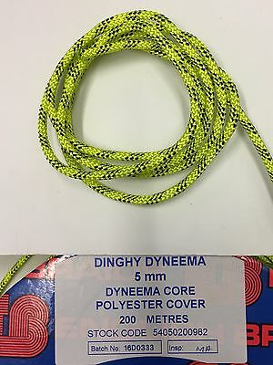 Dinghy Control Lines// Rigging p//metre English Braids 3mm Dynastay Black Dyneema