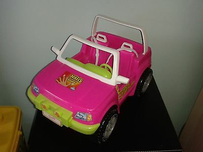 Barbie Pink Jeep By Mattel 1998 With Traction Rear Wheels