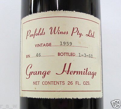 Penfolds & Australian Wine Collection, Grange, Bin 707, Special Bin, St.Henri