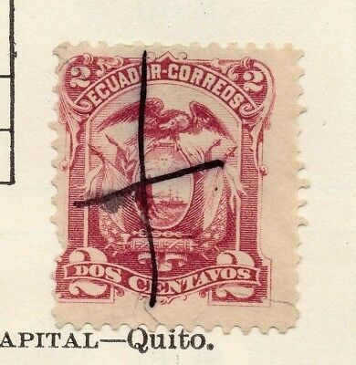 Ecuador 1881 Early Issue Fine Mint Hinged 2c. 170132
