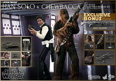 SIDESHOW HOT TOYS STAR WARS CHEWBACCA HAN SOLO 1/6th NEW HOPE Exclusive figure