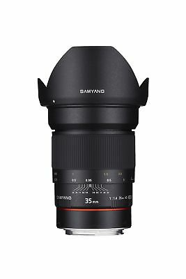 Samyang SYAE35M-C 35mm F1.4 Aspherical Lens with Chip for Canon AE/EF-... NO TAX