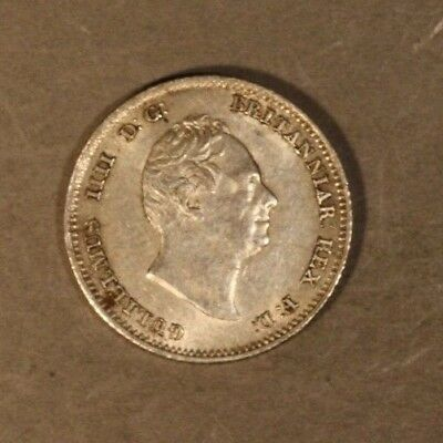 1836 Great Britain Four Pence Groat Quite Nice         ** FREE U.S SHIPPING **