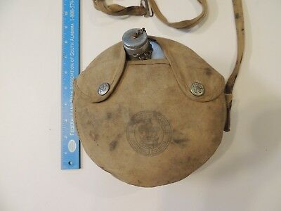 vintage Boy Scout National Council metal canteen  in original pouch