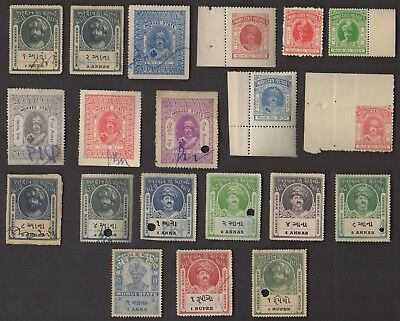 20 MORVI  (INDIAN STATE) All Different Stamps (c80)
