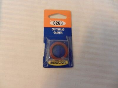 Package of 2 Brass Craft Cap Thread Gaskets #0263 for Gerber, Price Pfister