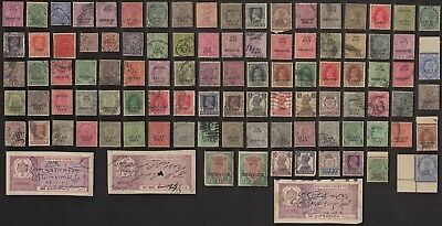 100 JIND (INDIAN STATE) All Different Stamps (c80)