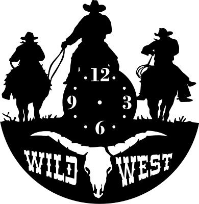 DXF CDR  File For CNC Plasma Laser Cut - Western Clock