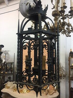 Spanish Revival Iron Pendant Light