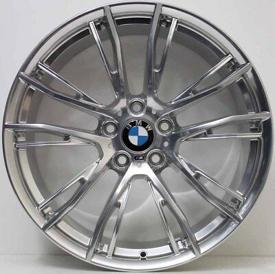 20 inch Genuine BMW 3 /4 SERIES M SPORT POLISHED RUNFLAT WIDE PACK ALLOY WHEELS