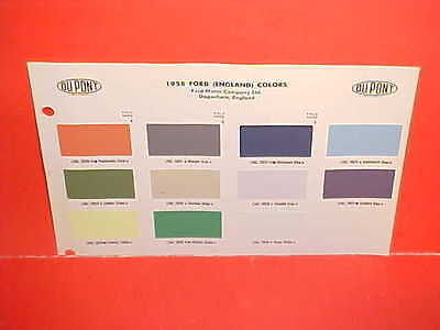 1958 Ford England Consul Zodiac Zephyr Mk Mark Ii Anglia Prefect Paint Chips 58
