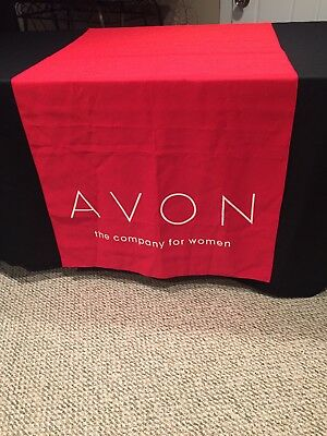 Avon Logo The Company For Women - Table Runner - Events Promotional - Red