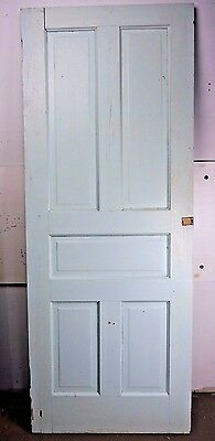"Antique Vintage 5-Panel Interior Door 77-7/8"" X 30-1/8"" Early 1900's (U5)"
