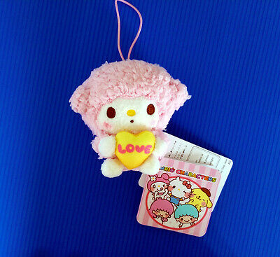 BNWT Sanrio Sega Japan 8cm Piano My Melody with Love Heart plush soft toy doll