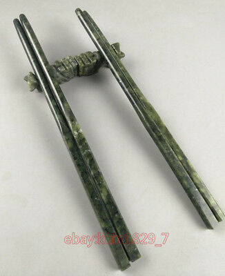 Chinese collect decoration handmade jade Chopsticks gift