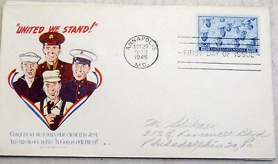 WW2 cover from USA: United We Stand
