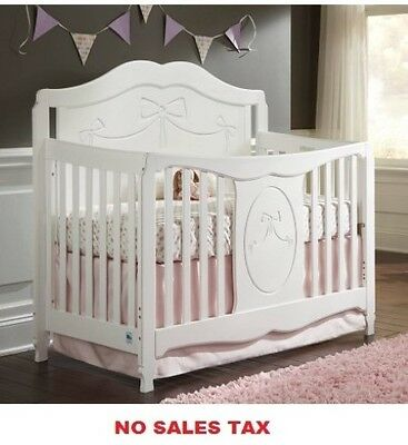 4-in-1 Convertible Toddler Crib  Furniture Baby Bed New