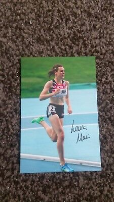 Laura Muir Signed 6X4 photo , great Britain athletics