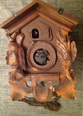 Antique Black Forest Cuckoo Clock For Restoration Or Spare Parts 26x16x12cm.