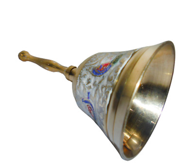 12cms Vintage Brass Hand painted Bell Decorative India Home Decor Gifts Souvenir