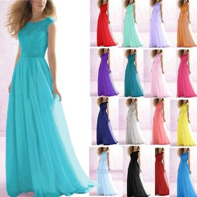 Long-Chiffon-Lace-Evening-Formal-Party-Ball-Gown-Prom-Bridesmaid-Dress-Size-6-26
