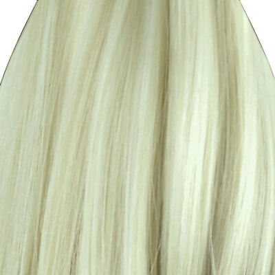 "23"" Clip In ONE PIECE WAVY CURLY Swedish Blonde #22A FULL HEAD 1pc"