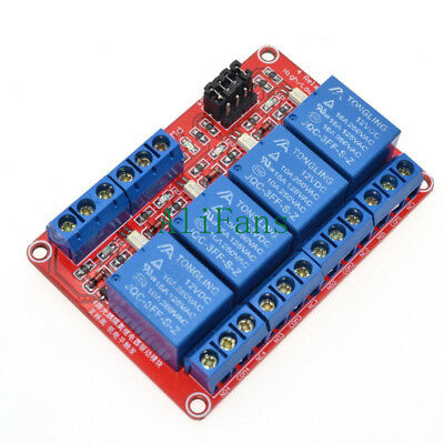 12V 4-Channel High Low Level Trigger Relay for AVR DSP TTL With Optocoupler