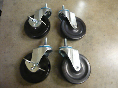 Caster Wheels, Casters, set of 4, 4 inch set, heavy duty, Made in U.S.A