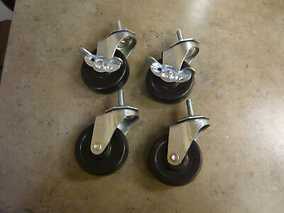 Caster Wheels, Casters, set of 4, 3 inch set, heavy duty, Made in U.S.A