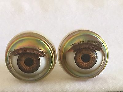 """Brown Doll Eyes - Custom 18"""" American Girl Size Replacement Parts"""