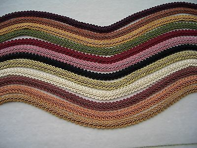 SOLD BY THE YARD ~ Beautiful French Style Braid Gimp Trim ~ CHOICE of COLORS