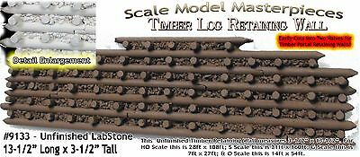 LOG TIMBER RETAINING WALL (LabStone) Scale Model Masterpieces On3 Fine Craftsman