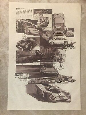 1979 Porsche Rennenhaus Dealership Showroom Advertising Poster RARE!! Awesome