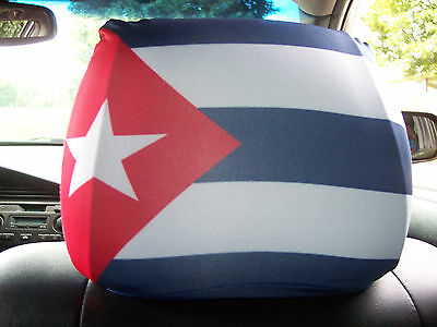 Cuba  Headrest Car/Auto Flags--------2 PIECES